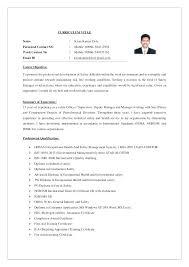 Sample Resume Safety Supervisor Also Related Post For Frame Perfect Cv Of 115