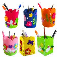 Online Shop DIY Pencil Pot Pen Holder Kids Children Kindergarten Handwork Arts And Crafts Creativity Toys
