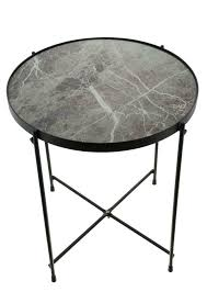beistelltisch marmor tisch wohnzimmer kaffee rund