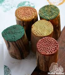 DIY Wooden Texture Stamps Woodworking Projects For Kids