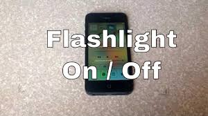 How to turn the led light flashlight on and off iPhone 4S 5 5c