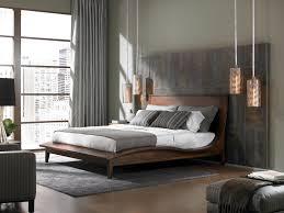 gray bedroom with modern flair hgtv