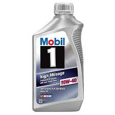 Oil Rain Lamp Motor by Mobil1 High Mileage 10w 40 Synthetic Motor Oil 1 Qt 103536