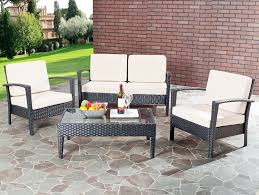 Inexpensive Patio Conversation Sets by Amazon Com Safavieh Home Collection Glass Top 4 Piece Patio
