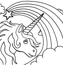 Unicorn Rainbow Coloring Pages 01 And Of Rainbows