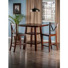 Orlando 3pc Set High Table With 2 Ladder Back Stools