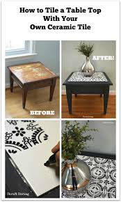 how to tile a table top with your own ceramic tiles craft