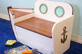 amazon com wooden boat toy chest toy box ship bench toy