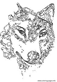 Animal Wolf Head Coloring Pages Printable