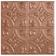 use metal tiles for ceiling treatment and front of reception desk
