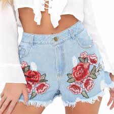 online buy wholesale red denim shorts from china red denim shorts