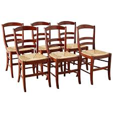 Rattan Seat Dining Chairs Solid Set Of Ten French Oak Rush Seat ... Antique Set Of 12 French Louis Xv Style Oak Ladder Back Kitchen Six 1940s Ding Chairs Room Chair Metal Oak Ladder Back Chairs Avaceroclub Fniture Classics Solid Wood Wayfair 10 Rush Seat White Painted Country Shabby Chic Cottage In Theodore Alexander Essential Ta Farmstead A 8 Nc152 Bernhardt Woven