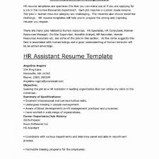 Human Resources Assistant Resume Template Simplistic For Management Position Best Examples New