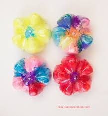 Recycled Soda Bottle Flowers Kids Craft