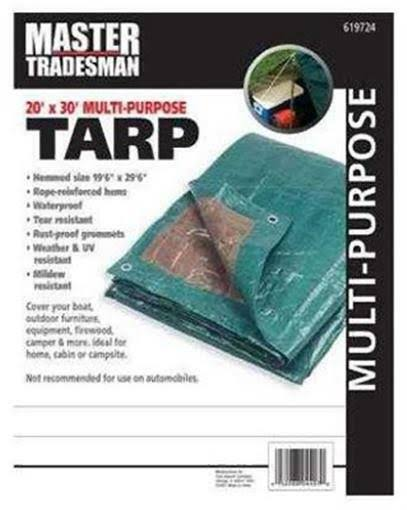 Hunter Green/Brown Polyethylene Tarp, 20 x 30-ft.