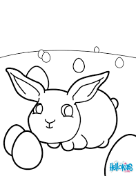 Baby Easter Bunny Coloring Page Color Online Print
