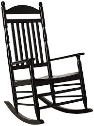 Cambridge-Casual AMZ-130635B Bentley Traditional Porch Rocking Chair,  Rocker, Black