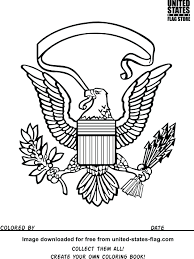 Army Coloring Book Pages Flag Eagle Military Online To Print Full Size