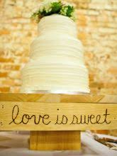 Items Similar To Love Is Sweet Rustic Cake Stand For Wedding Anniversary On Etsy
