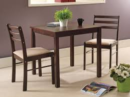 Transitional Dining Chairs Inspirational 3 Piece Espresso Wood Room Dinette Set Table