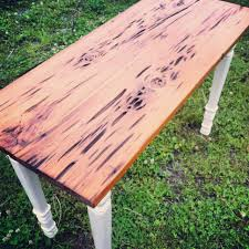 Make Cypress Knee Lamps by Foyer Table With Pecky Cypress Top Rough Cut Salvage