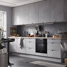 image de placard de cuisine meuble de cuisine décor béton delinia berlin leroy merlin