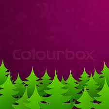 Bright Green Christmas Tree Forest Vector Illustration