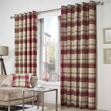 Belvedere Tartan Check Woven Eyelet Curtains