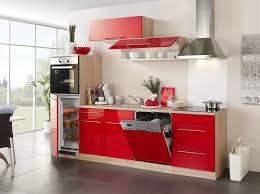 küchenzeile husum küche mit e geräten breite 280 cm hochglanz rot