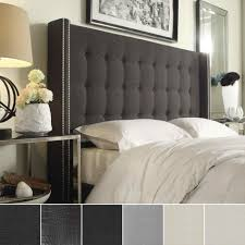 Wayfair Skyline Tufted Headboard by Black Tufted Headboard Nailhead Yakunina Info