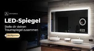 badezimmerspiegel badspiegel mit led beleuchtung nach maß