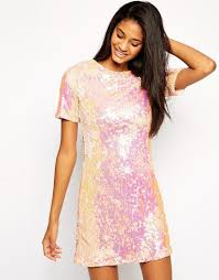 true decadence sequin shift dress in pink lyst