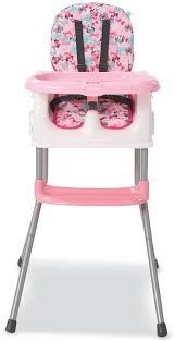 Details About Kids 4 In 1 High Chair Minnie Mouse Print With Large Tray  Secure Shoulder Straps