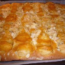apfelkuchen mit mandelblättchen blechkuchen rezept