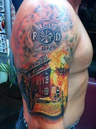 Firefighter Tattoos Among Those In Service Are Very Popular The USA