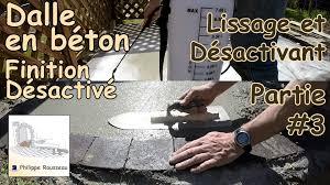 faire une dalle exterieur faire une dalle en béton béton désactivé 3 lissage et