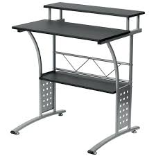 Glass And Metal Corner Computer Desk White by Monarch Black Metal L Shaped Computer Desk With Tempered Glass And
