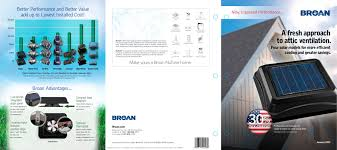 Broan Medicine Cabinet Canada by Broan Solar Powered Attic Ventilators Catalog Broan Pdf