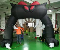 Halloween Inflatable Spider Archway by Festival Inflatables Giant 6mwx5mh Cat Mouth Shape Halloween
