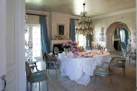 Coastal Chic Decor Dining Room Shabby Style With Tables Wallpaper