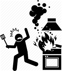 Iconfinder Hazarded Clipart Stove Fire