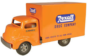Smith Miller Toy Truck, Original Rexall Drug Company Box Van,