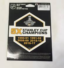 Pittsburgh Penguins Pumpkin Stencil Free by Pittsburgh Penguins 5x Stanley Cup Champions Die Cut Decal New 5 X