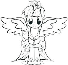 Princess Pony Coloring Pages Color Page Printable My Little