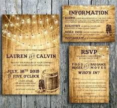 Lovely Country Themed Wedding Invitations For 27
