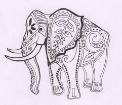 Elephant Flower Drawing 1000 Images About Elephants On Pinterest