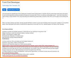 front end web developer resume sample front end