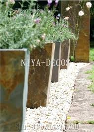 Full Image For Large Rustic Flower Pots China Slate Standplanters Pot Garden Decorationlandscaping