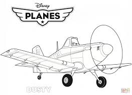 Disney Planes Dusty Coloring Page Printable Pages Click The Airplane Simple Color Educations