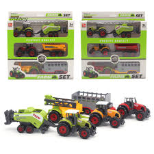 100 Toy Farm Trucks And Trailers CWBY_Mini Diecast Tractor Vehicle Car Carriage Model Set Collection Kids